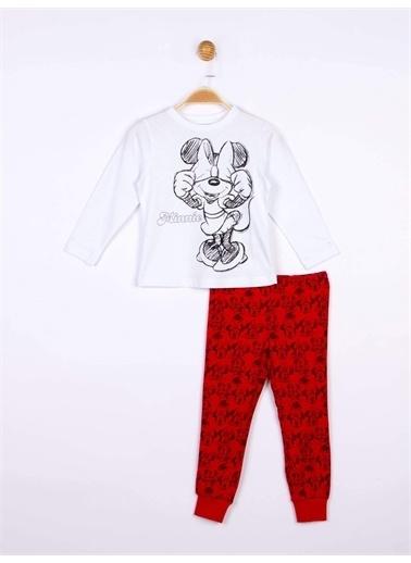 Minnie Mouse Disney Minnie Çocuk Pijama Takımı 18857 Beyaz